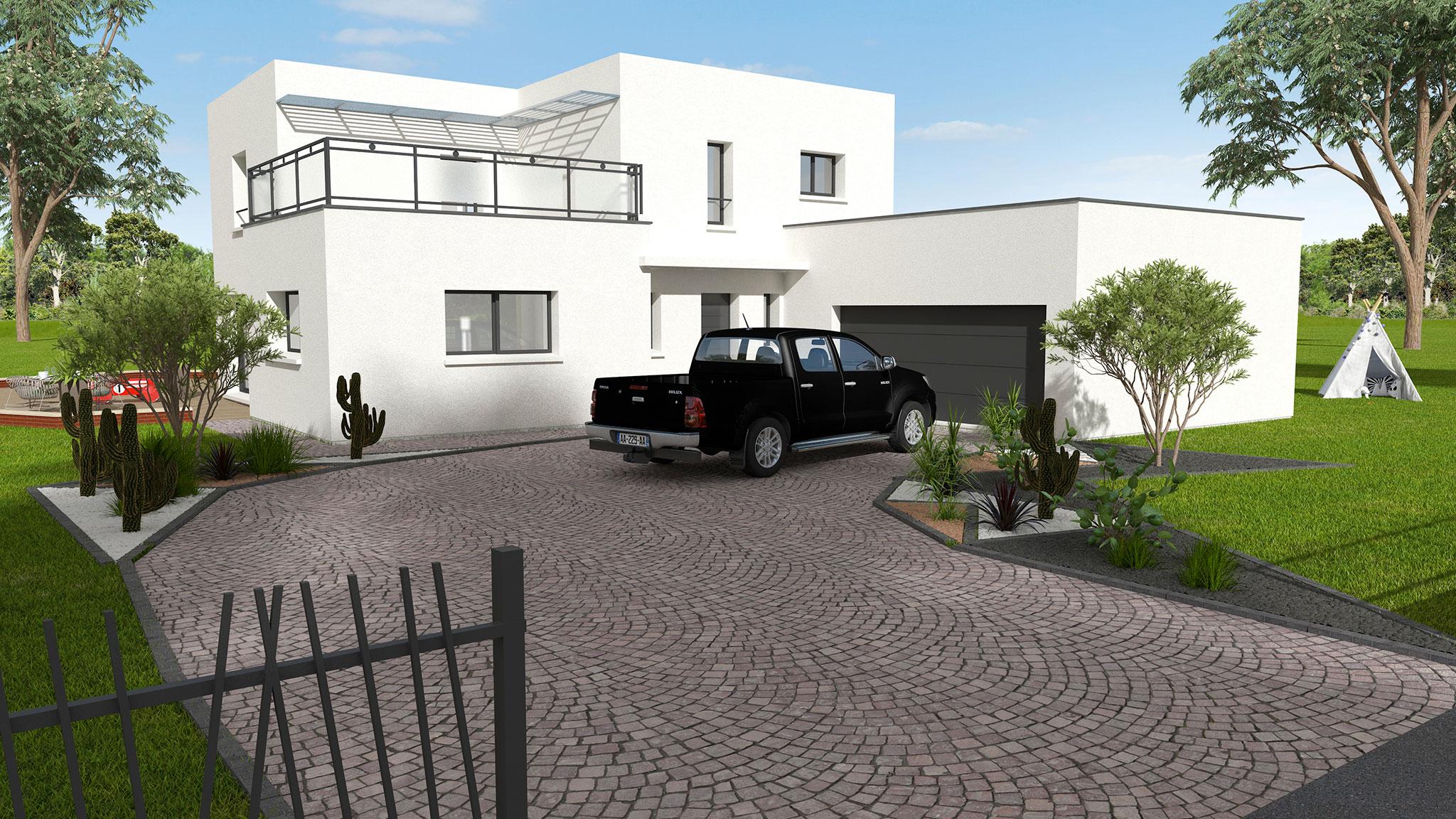 Mod le de maison contemporaine en indre et loire dmo constructions - Descriptif construction maison individuelle ...