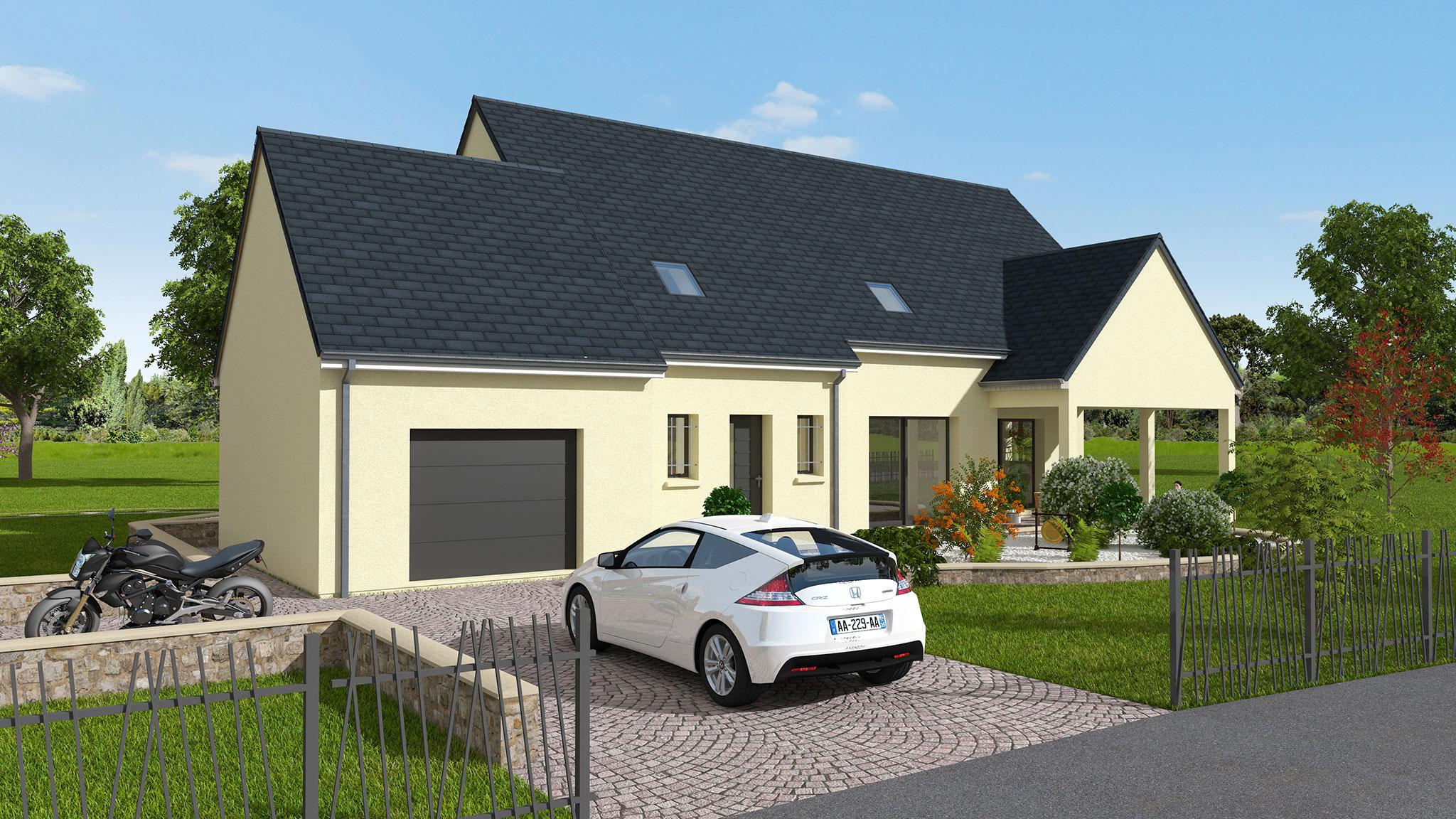 Mod le de maison traditionnelle avec tage en indre et loire dmo constructions - Descriptif construction maison individuelle ...