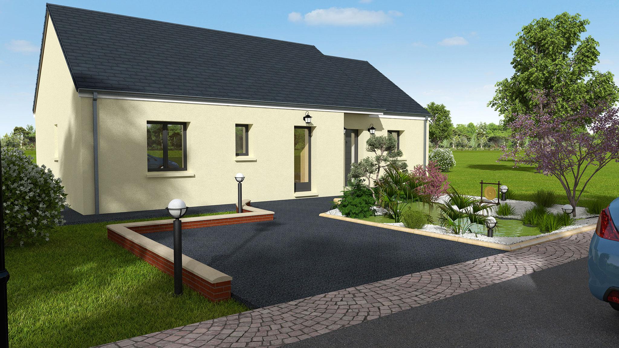 Mod le de maison traditionnelle de plain pied en indre et loire dmo constructions - Descriptif construction maison individuelle ...